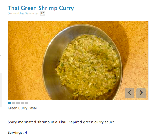 Thai Green Shrimp Curry Cucumbertown My images are all upside down!