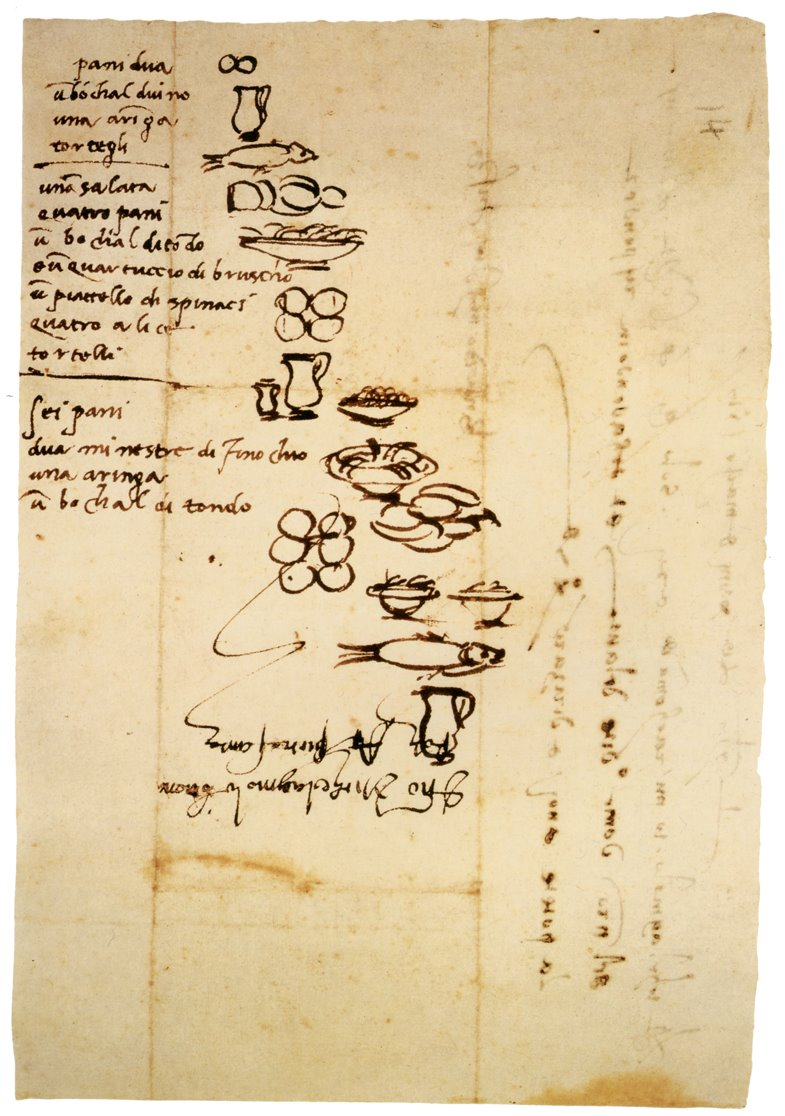 Michelangelo's grocery list